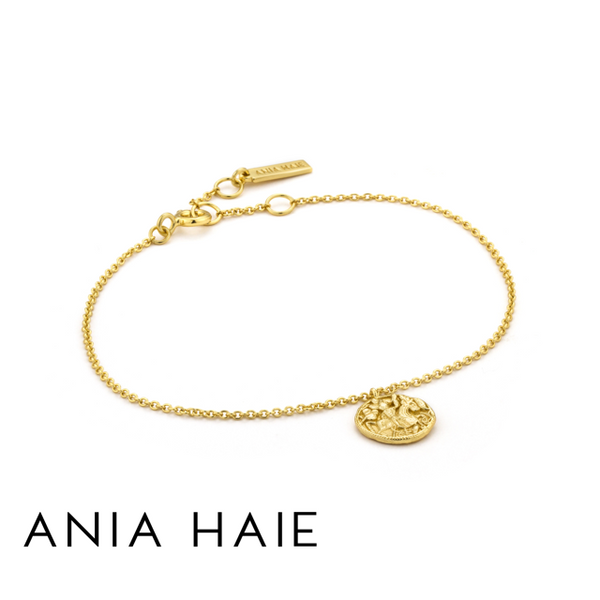 ANIA HAIE: STERLING SILVER GOLD GREEK WARRIOR BRACELET