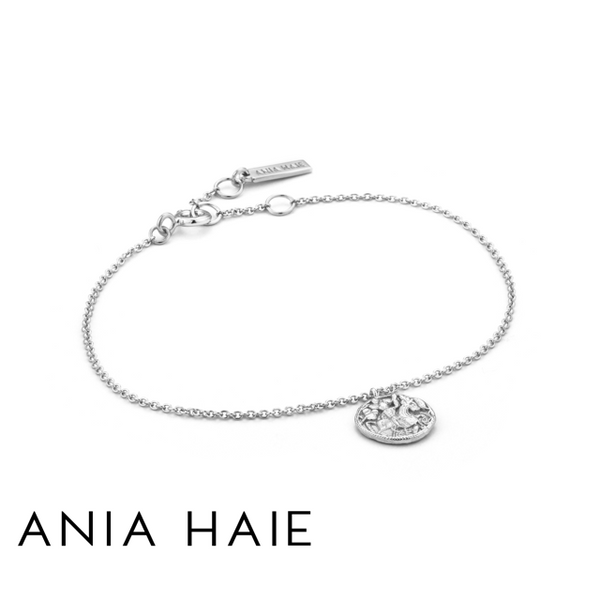 ANIA HAIE: STERLING SILVER GREEK WARRIOR BRACELET
