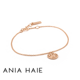 ANIA HAIE: STERLING SILVER ROSE GOLD GREEK WARRIOR BRACELET