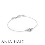 ANIA HAIE: STERLING SILVER CRUSH SQUARE BRACELET