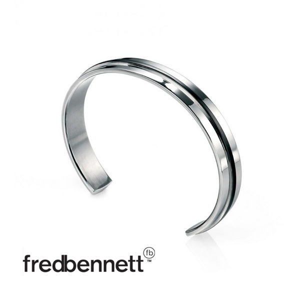 FRED BENNETT BANGLE WITH PVD STRIP