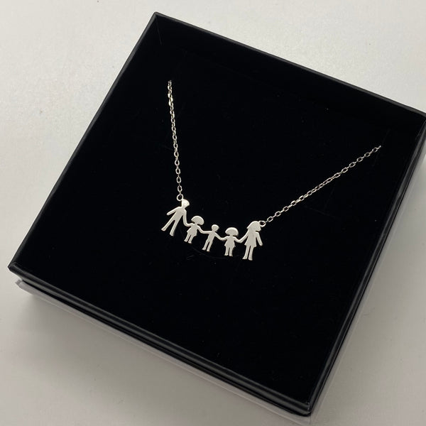 VMJ STERLING SILVER: FAMILY NECKLACE