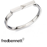 FRED BENNETT TOP BAR ETCHED BANGLE