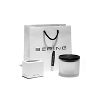 BERING: LADIES CLASSIC POLISHED SILVER/RED