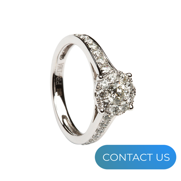 DIAMONDS @ VMJ: CLUSTER DIAMOND RING WITH DIAMOND SHOULDERS
