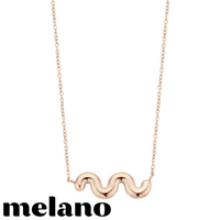 MELANO: CRINKLE NECKLACE (ROSE GOLD)