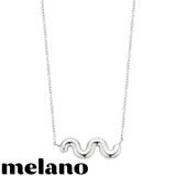 MELANO: CRINKLE NECKLACE (SILVER)
