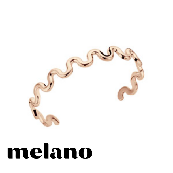 MELANO: CRINKLE BANGLE (ROSE GOLD)