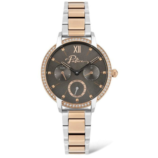 POLICE LADIES NADU TWO TONE ROSE GOLD WATCH