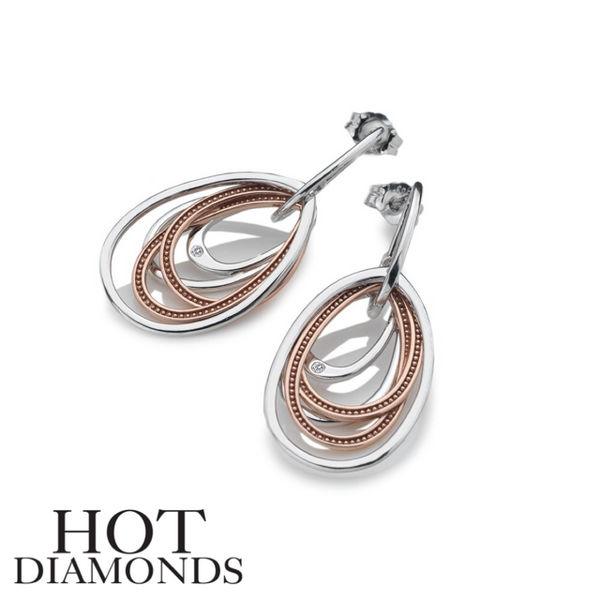 HOT DIAMONDS: GLAMOROUS TWO TONE EARRINGS