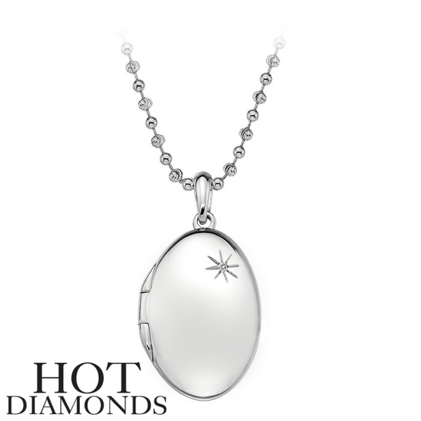 HOT DIAMONDS: MEMORIES OVAL LOCKET