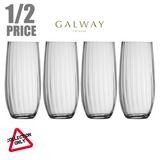 GALWAY CRYSTAL: ERNE HI BALL (SET OF 4)