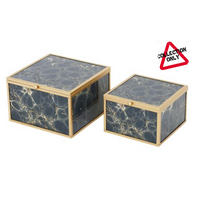 MINDY BROWNES ACCESSORY BOX (SET OF 2) DEEP BLUE