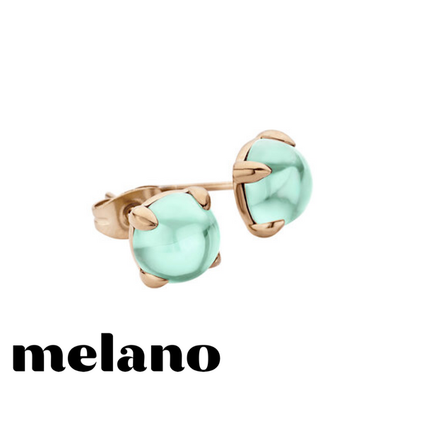 MELANO: ROSE GOLD FRIENDS TURQUOISE STUD EARRINGS