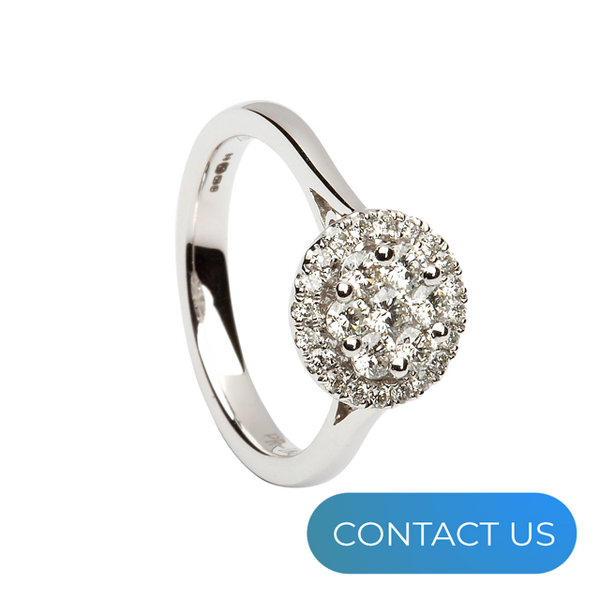 DIAMONDS @ VMJ: ROUND HALO CLUSTER RING
