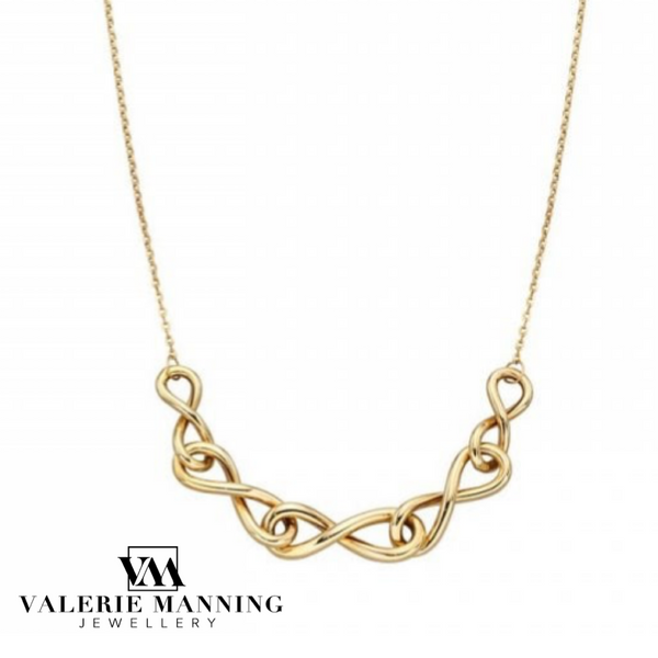 VMJ GOLD: 9CT GOLD INFINITY LINK NECKLACE