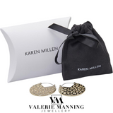 KAREN MILLEN: SILVER CHAIN LINK LEATHER BRACELET