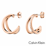 CALVIN KLEIN: ROSE OUTLINE & SWAROVSKI EARRINGS