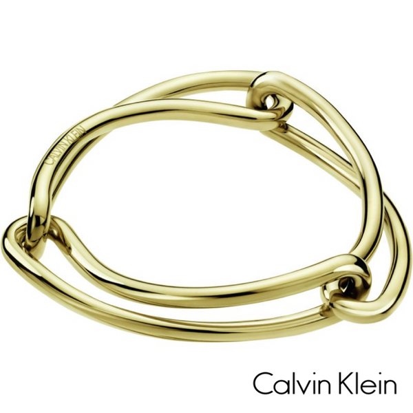 CALVIN KLEIN: GOLD UNIFIED BANGLE