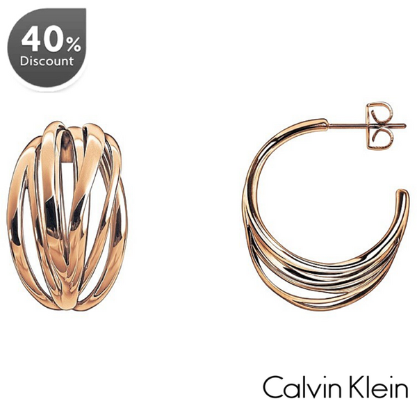 CALVIN KLEIN: ROSE CRISP EARRINGS