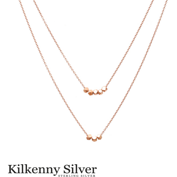 KILKENNY SILVER: ROSE DOUBLE LAYER NECKLACE