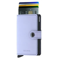 SECRID: MINI WALLET LILAC AND BLACK (MATTE)