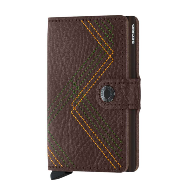 SECRID: MINI WALLET STITCHED LINEA ESPRESSO / BROWN