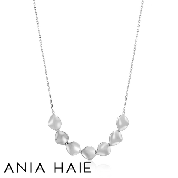 ANIA HAIE: STERLING SILVER CRUSH MULTI DISC NECKLACE