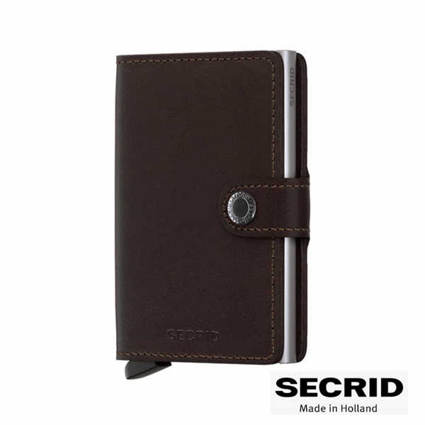 SECRID: MINI WALLET ORIGINAL DARK BROWN
