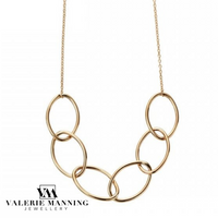 VMJ GOLD: 9CT GOLD OPEN LINK OVAL NECKLACE