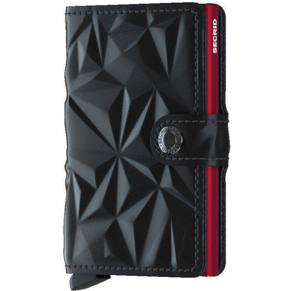 SECRID: MINI WALLET PRISM BLACK / RED