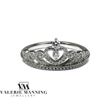STERLING SILVER CZ PRINCESS RING