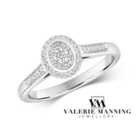 DIAMONDS @ VMJ: OVAL SHAPE CLUSTER RING WITH DIAMOND SHOULDERS