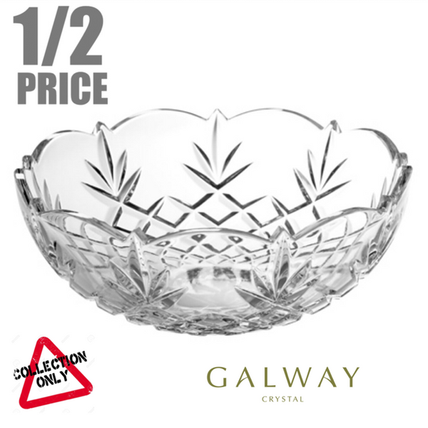 GALWAY CRYSTAL: RENMORE 9 INCH BOWL