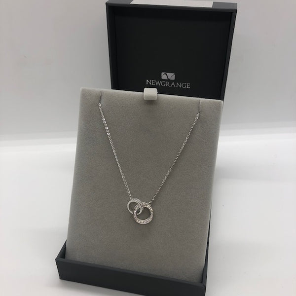 NEWGRANGE SILVER CZ CIRCLES NECKLACE