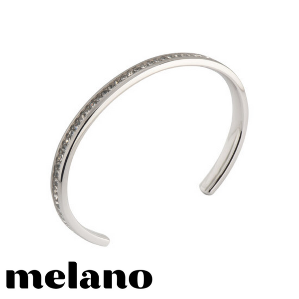 MELANO: SILVER CZ FRIENDS BANGLE