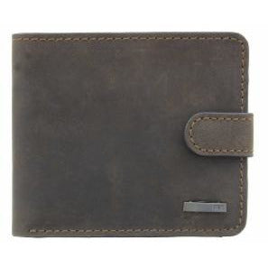 STORM: NEWPORT BROWN/BLACK LEATHER WALLET