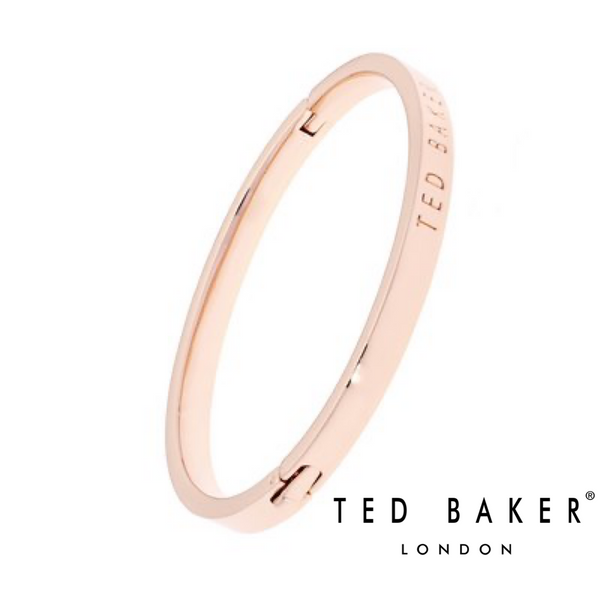 CLEMINA: HINGED ROSE GOLD BANGLE