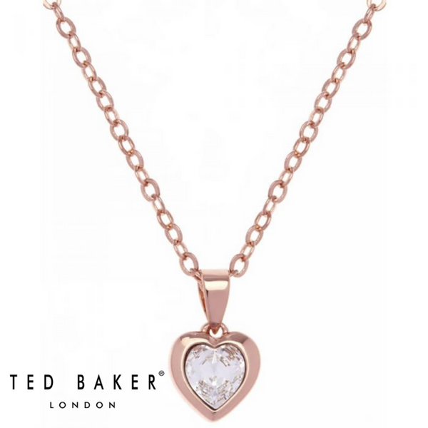 HANNELA: ROSE CRYSTAL HEART PENDANT