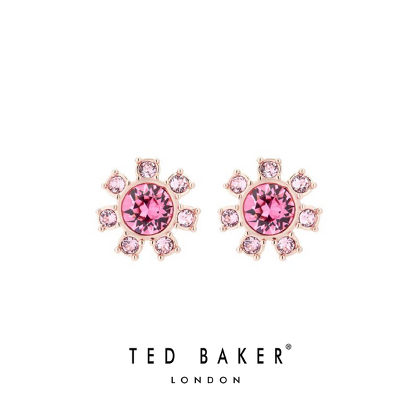 CESHA: ROSE DAISY CLOCKWORK STUD EARRINGS