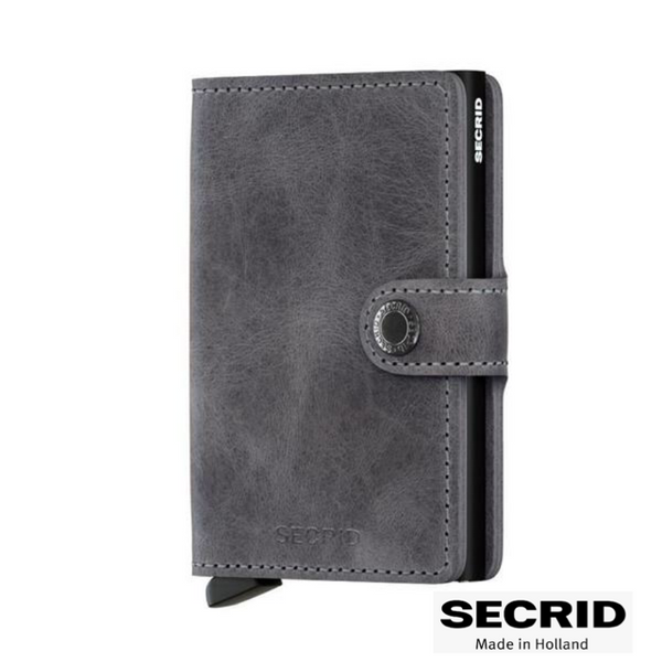 SECRID: MINI WALLET VINTAGE GREY BLACK