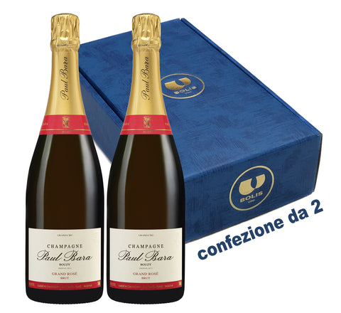 conf. da 2 bottiglie CH/07 Champ. GRAND ROSÉ DE BOUZY Grand Cru