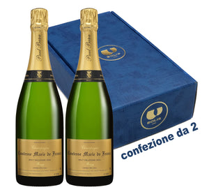 conf. da 2 bottiglie CH/10 Champ. COMTESSE MARIE DE FRANCE Grand Cru