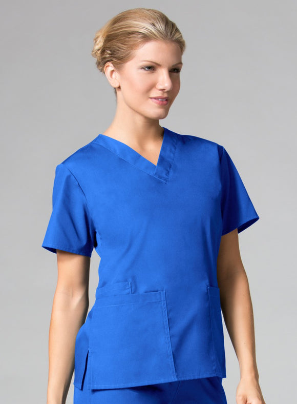 1016 Women's Two Pocket V-Neck Top (LFCC CNA)