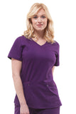 Healing Hands Purple Label Juliet Top, Eggplant