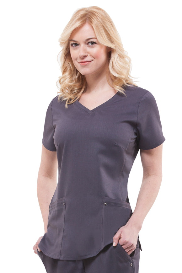 Healing Hands Purple Label Juliet Top, Pewter