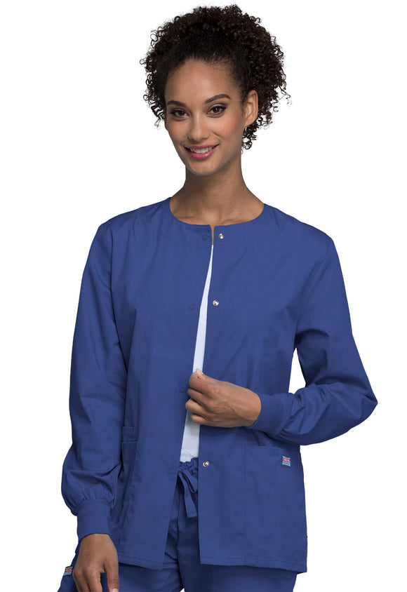 SU Nursing Cherokee Snap Front Warm Up Jacket (4350)
