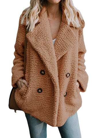 Beige Faux Fur Coat Jacket