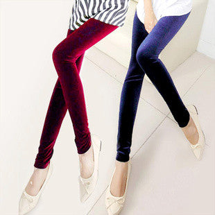 Elastic Velvet Leggings in 12 Colors