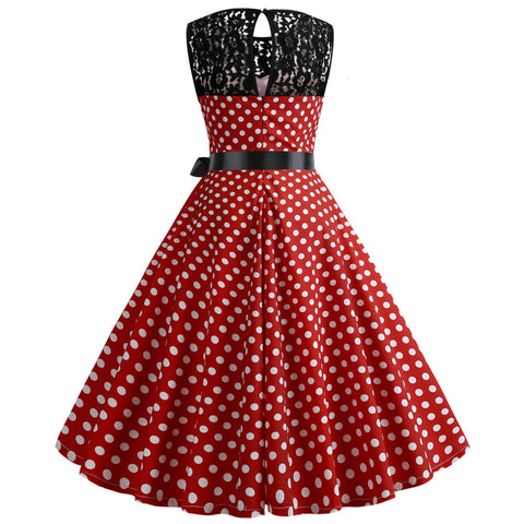 Red Polka Dot Vintage Dress